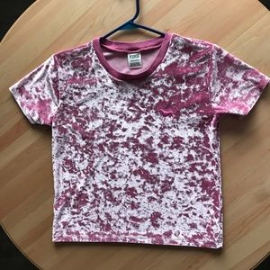 Victoria Secret PINK Cropped Velvet Shirt
